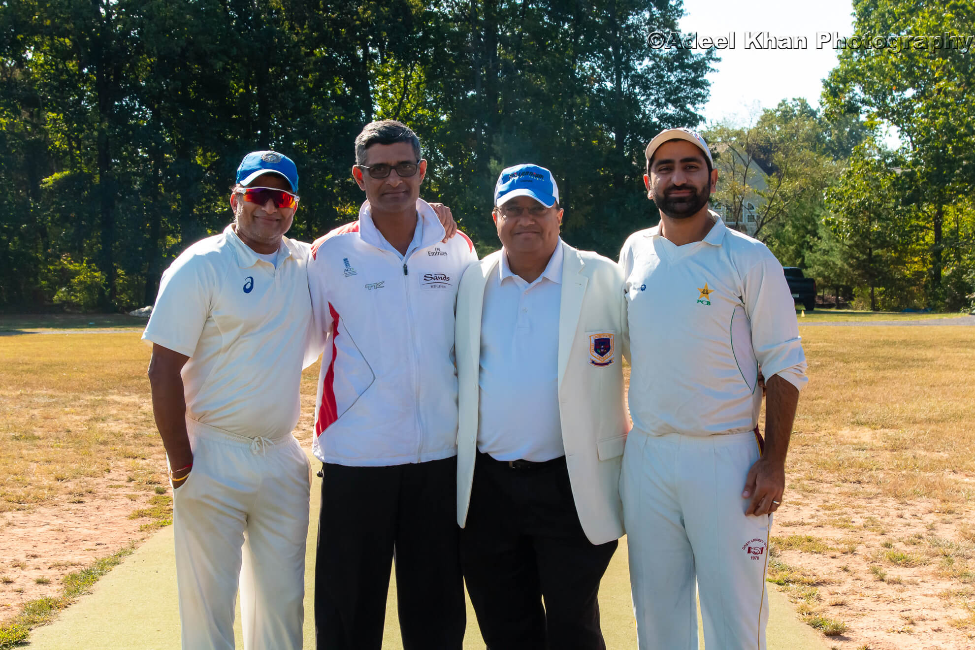 Umpires and Captain